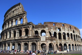 Roman Colosseum one of the seven wonders of the world a must see and visit tourist destination of the world