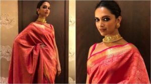 deepika padukone red saree online
