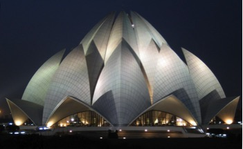 lotus temple in india one of the top tourist destinations of delhi