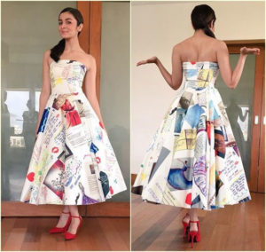 Alia Bhatt in off shoulder Dress