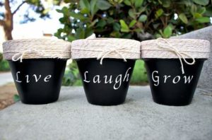 Crafts with clay flower pots