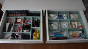 Drawer Dividers for makeup