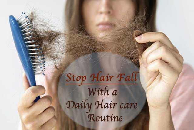 Prevent hair fall with hair care routine
