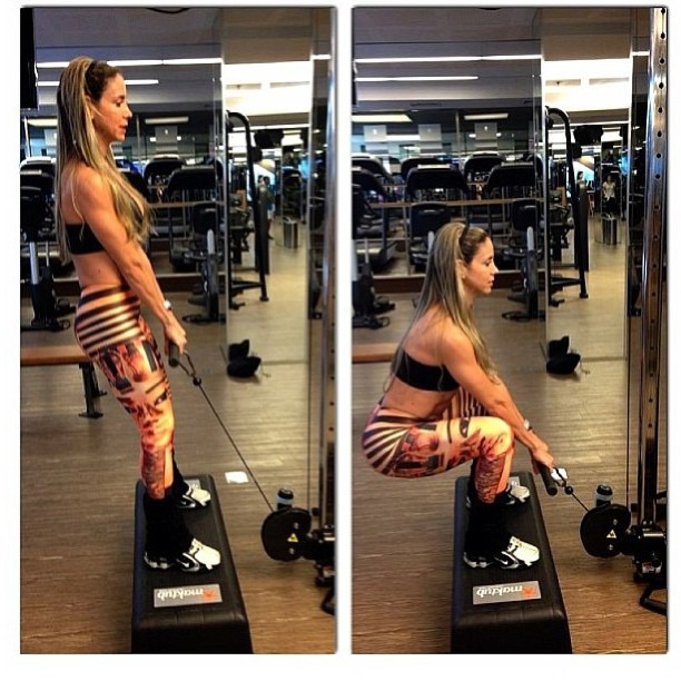 Squats with cable machines